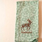 Floral Deer Kitchen Towel