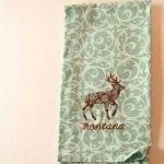 Floral Deer Kitchen Towel