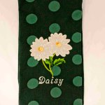 White Daisies Kitchen Towel