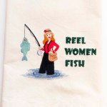 Fishing Kitchen Towel